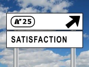 Panneau SATISFACTION (qualit garantie service client satisfait)
